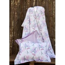 Постельное белье для подростков Lotus Premium B&G - Eifel лиловый, , 2