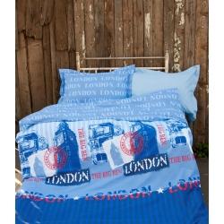 Постельное белье для подростков Lotus Premium B&G - Slang голубой, , 2