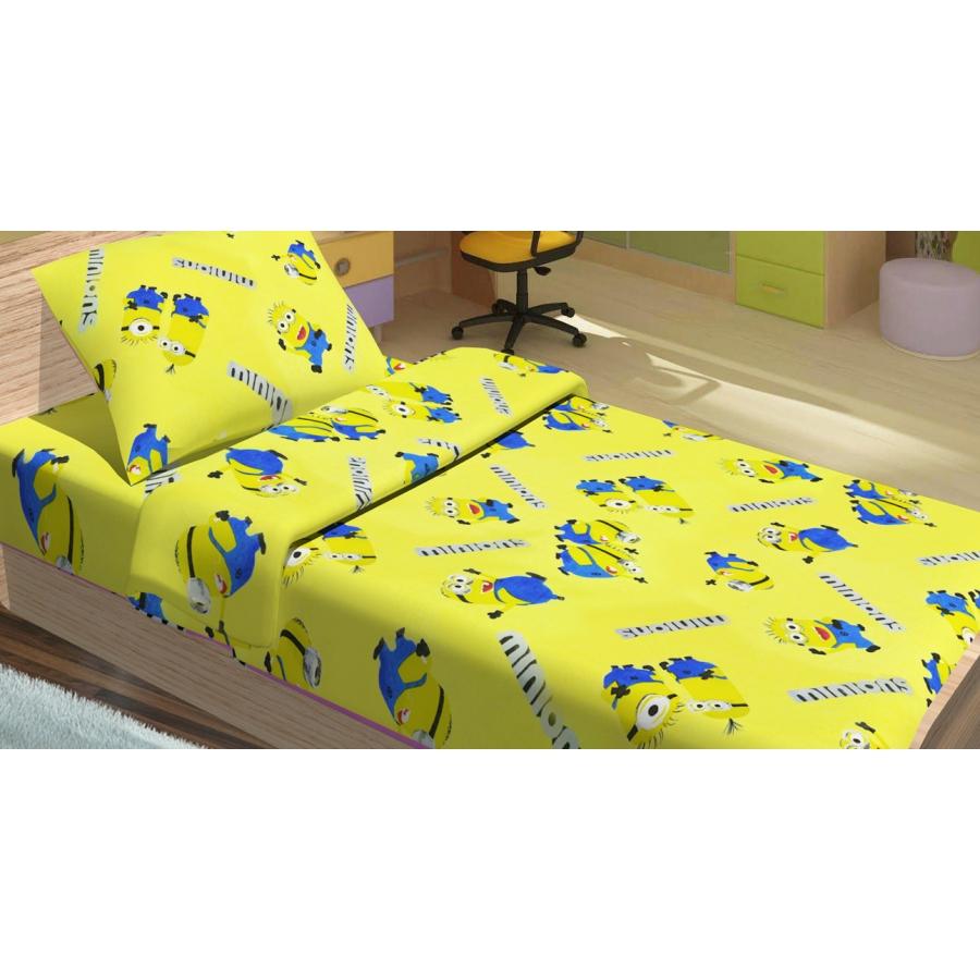 Детское постельное белье для младенцев Lotus ранфорс - Minions Happy желтый