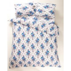 Постельное белье Lotus Ranforce - Loise V1 синий семейное, , 2