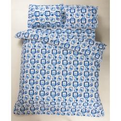 Постельное белье Lotus Ranforce - Delta синий семейное, , 3