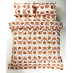 Постельное белье Lotus Ranforce - Bouquet коралловый двуспальное , , 3