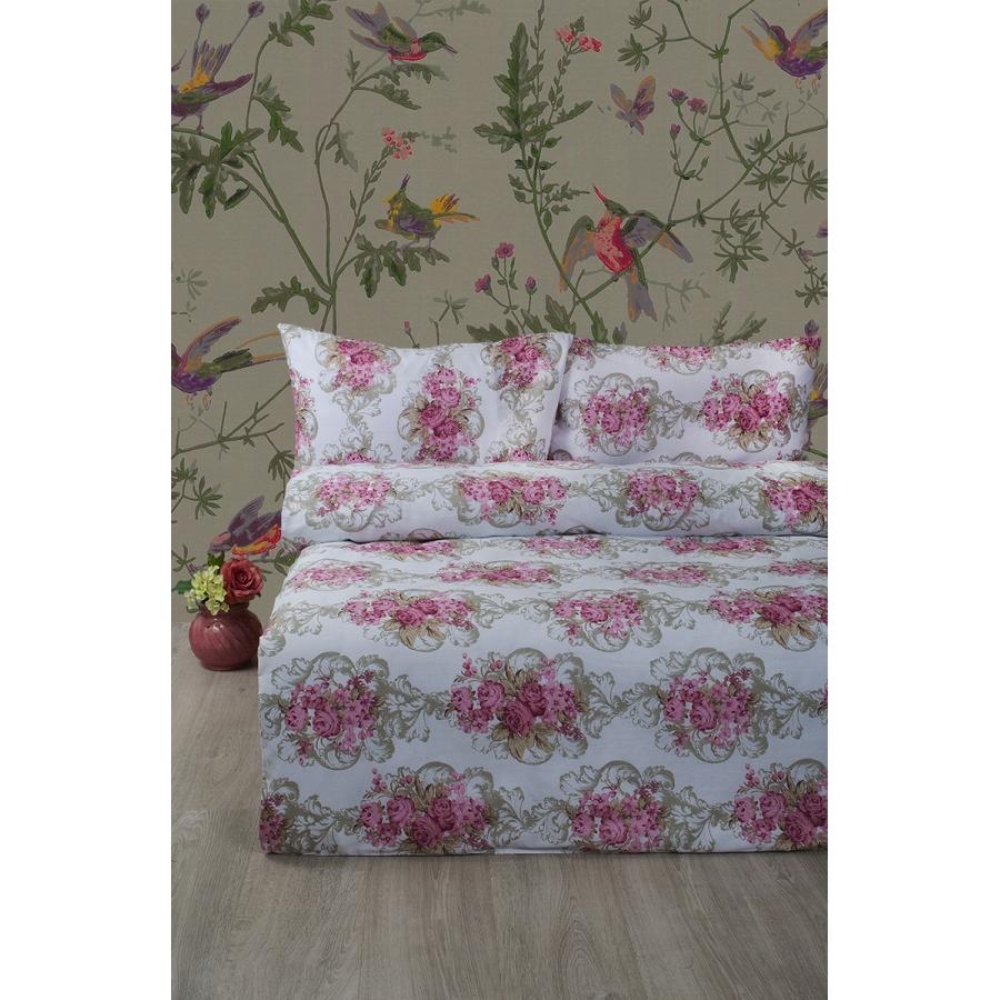 Постельное белье Lotus Ranforce - Nancy розовый евро