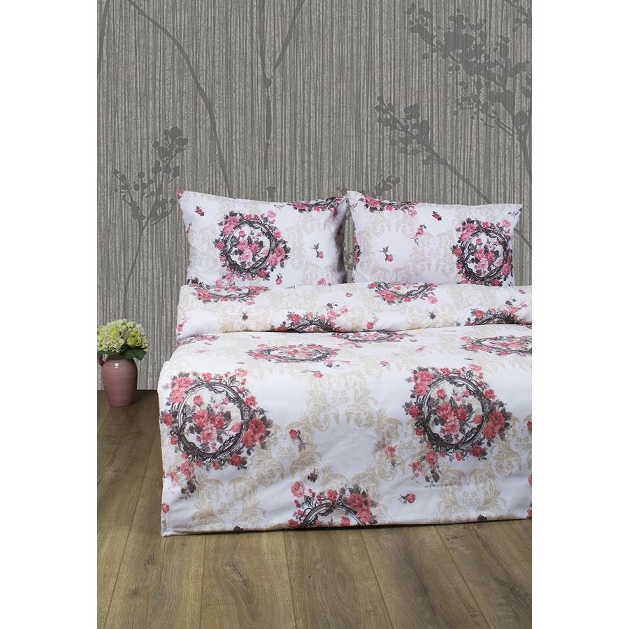 Постельное белье Lotus Ranforce - Angelique V1 розовый евро