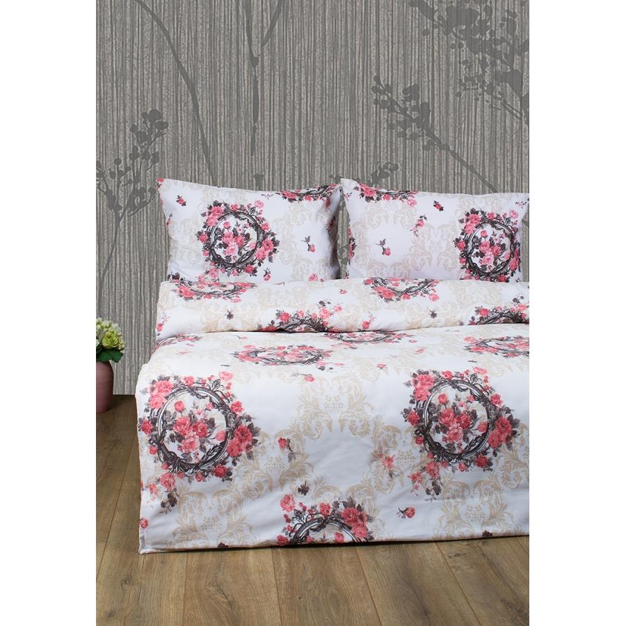 Постельное белье Lotus Ranforce - Angelique V1 розовый двуспальное