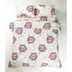 Постельное белье Lotus Ranforce - Angelique V1 розовый евро, , 3