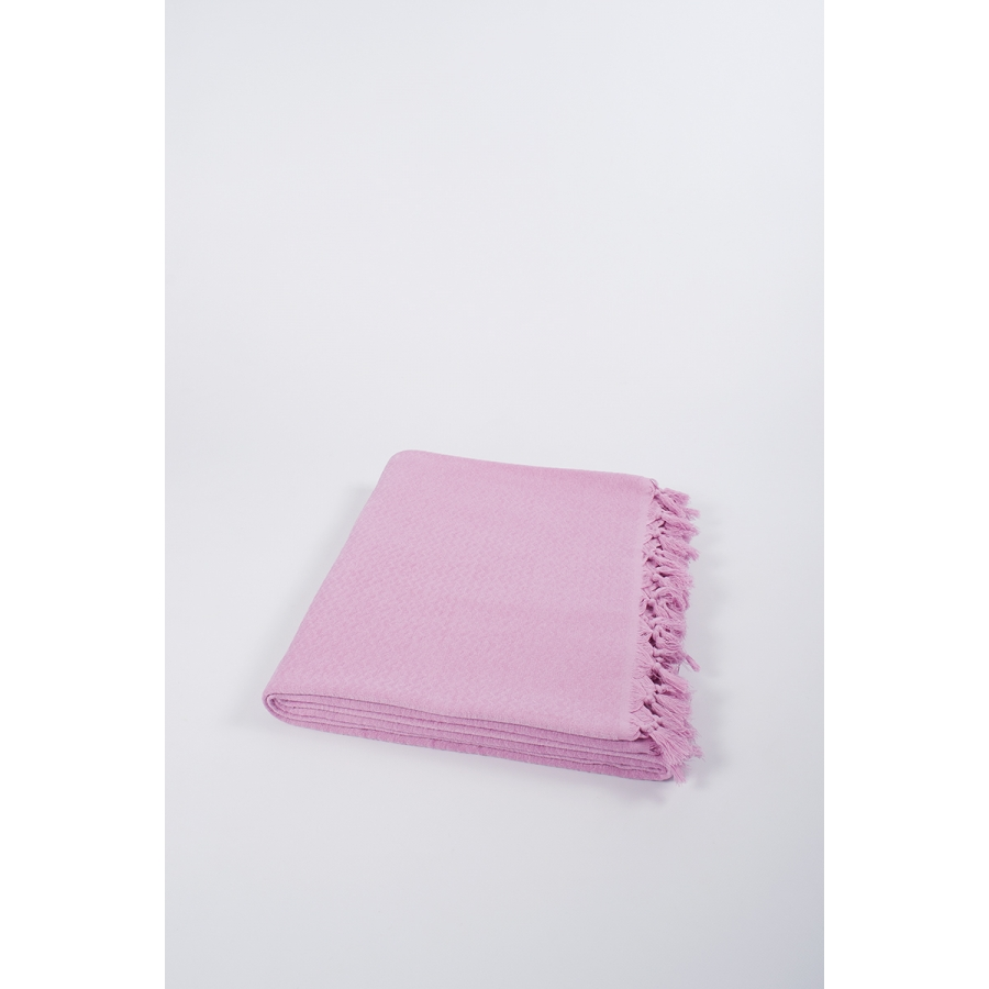 Плед хлопковый U.S.Polo Assn - Kalispell розовый 160*230