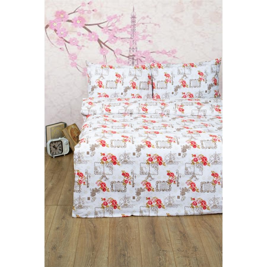Постельное белье Lotus Ranforce - La Clef красный двуспальное