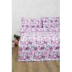 Постельное белье Lotus Ranforce - Dora розовый двуспальное, , 2