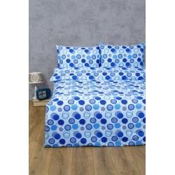 Постельное белье Lotus Ranforce - Erin голубой двуспальное, , 2