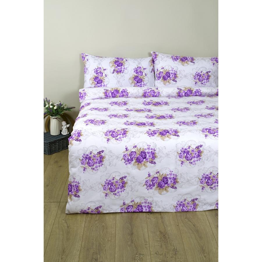 Постельное белье Lotus Ranforce - Nancy лиловый двуспальное