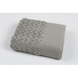 Полотенце махровое Pupila - Crooked gri серый 50*90, , 2