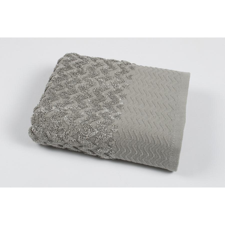 Полотенце махровое Pupila - Crooked gri серый 50*90