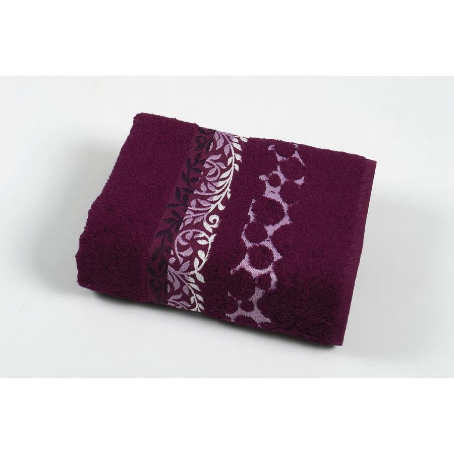 Полотенце махровое Pupila - Motcom фиолетовый 70*140