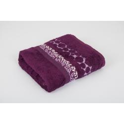 Полотенце махровое Pupila - Motcom фиолетовый 70*140, , 3