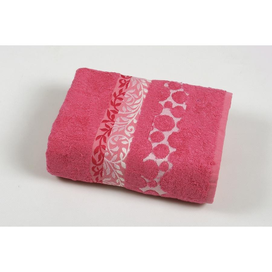 Полотенце махровое Pupila - Motcom розовый 70*140
