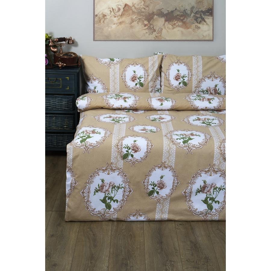 Постельное белье Lotus Ranforce - Nocturne бронзовый семейное