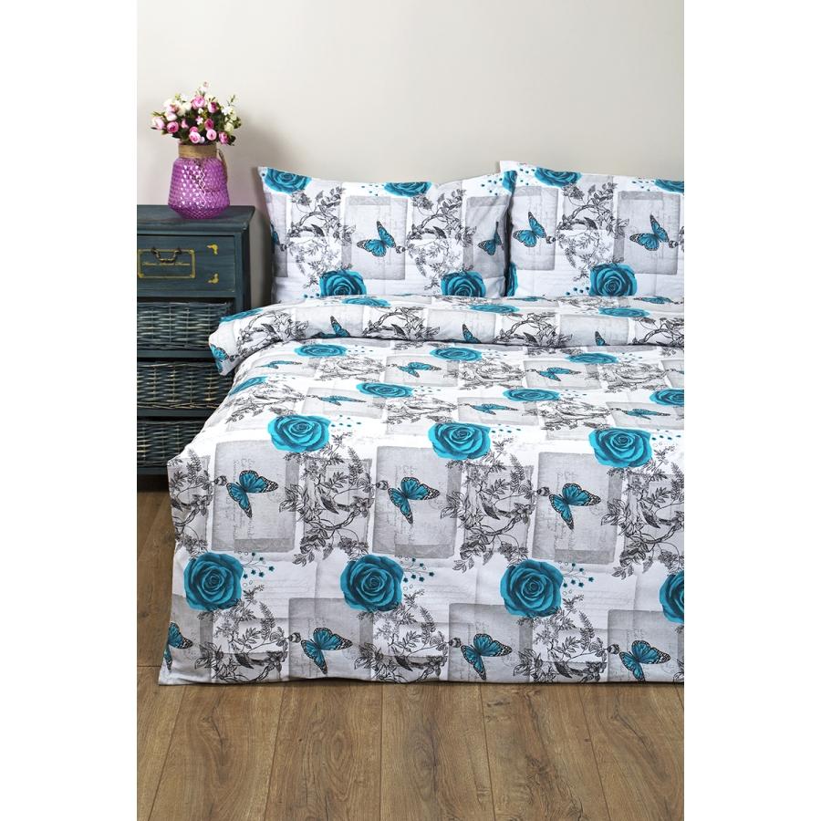 Постельное белье Lotus Ranforce - Niona бирюзовый двуспальное купить оптом в интернет-магазине домашнего текстиля Svtextile