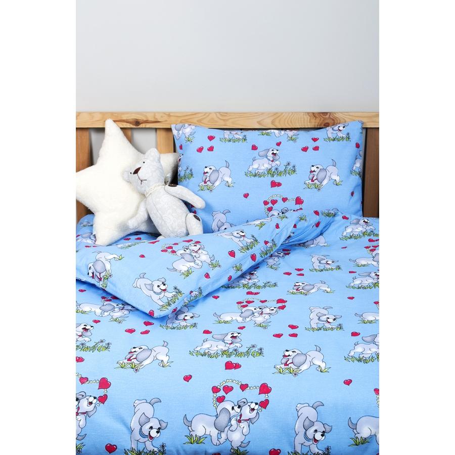 Детское постельное белье для младенцев Lotus ранфорс - DoGi голубой