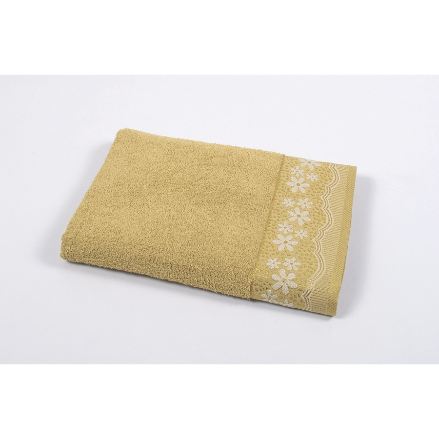 Полотенце махровое Binnur - Vip Cotton 11 70*140 горчичный