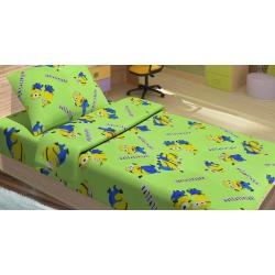 Постельное белье для подростков Lotus Young - Minions Happy зеленый ранфорс, , 2