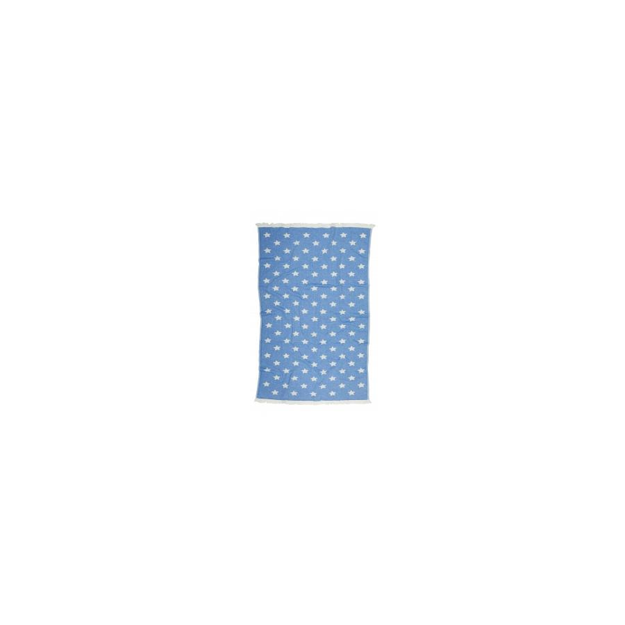 Полотенце Barine Pestemal - Stars 90*160 Blue голубое