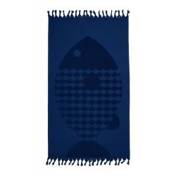 Полотенце Barine - Fish Lacivert синий 50*90, , 2