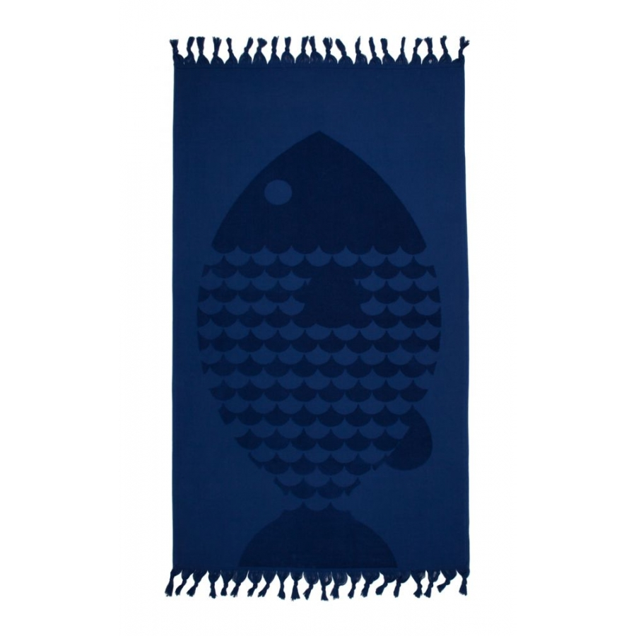 Полотенце Barine - Fish Lacivert синий 50*90