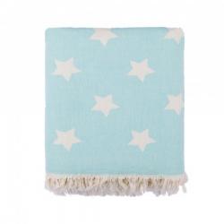 Плед-накидка Barine - Stars Throw mint ментоловый 130*170, , 2