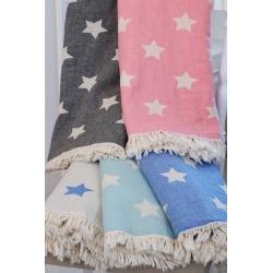 Плед-накидка Barine - Stars Throw mavi синий 130*170, , 3