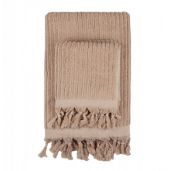 Полотенце Barine - Rib camel бежевый 90*170, , 2