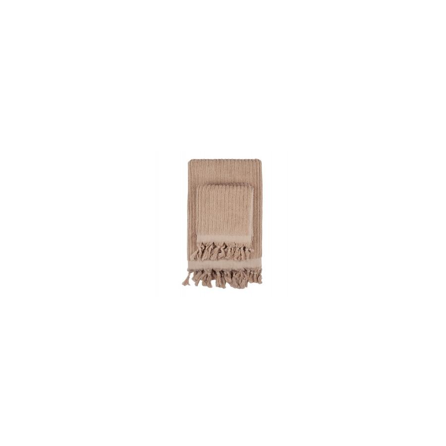 Полотенце Barine - Rib camel бежевый 90*170