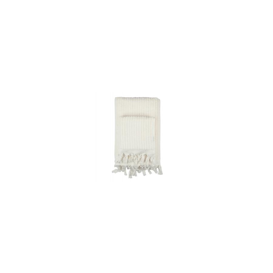Полотенце Barine - Rib ecru молочный 45*90