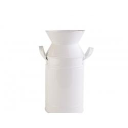 Декоративная ваза Barine - Metal Milk Can White M, , 2