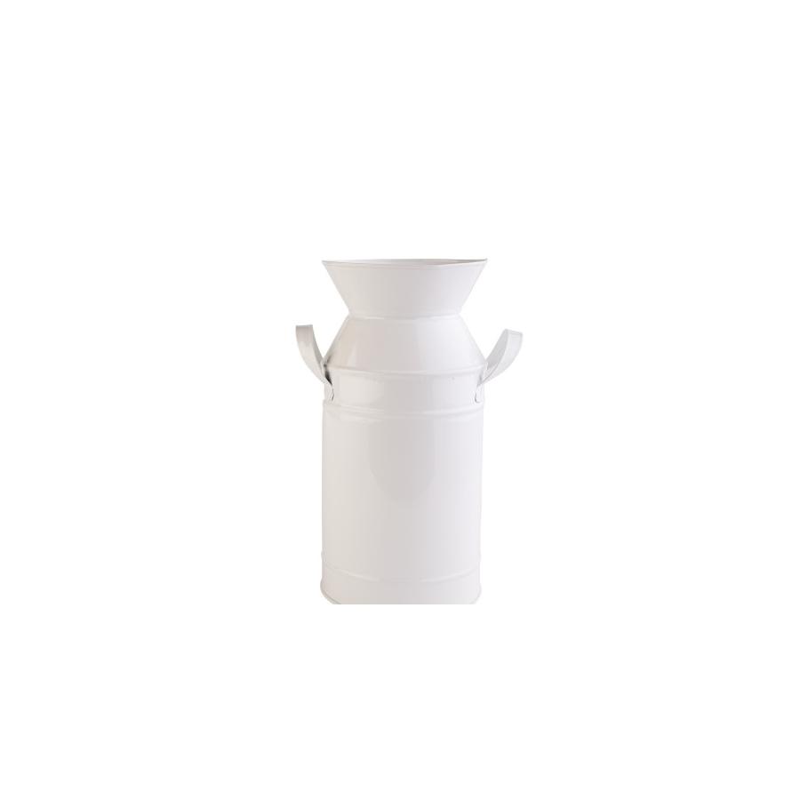 Декоративная ваза Barine - Metal Milk Can White M