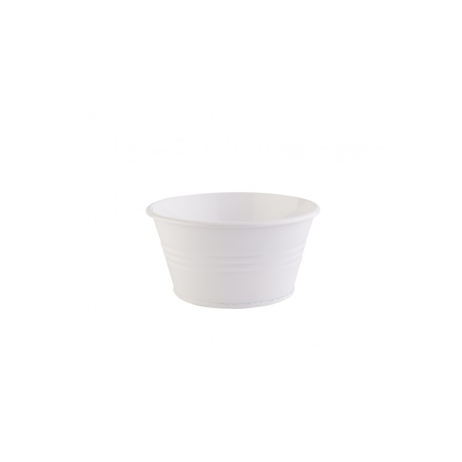 Декоративная ваза Barine - Metal Pot White