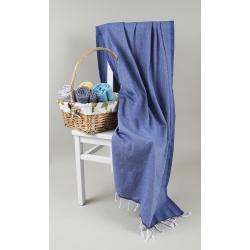 Полотенце Barine Pestemal - Engin 100*180 Denim синее, , 2