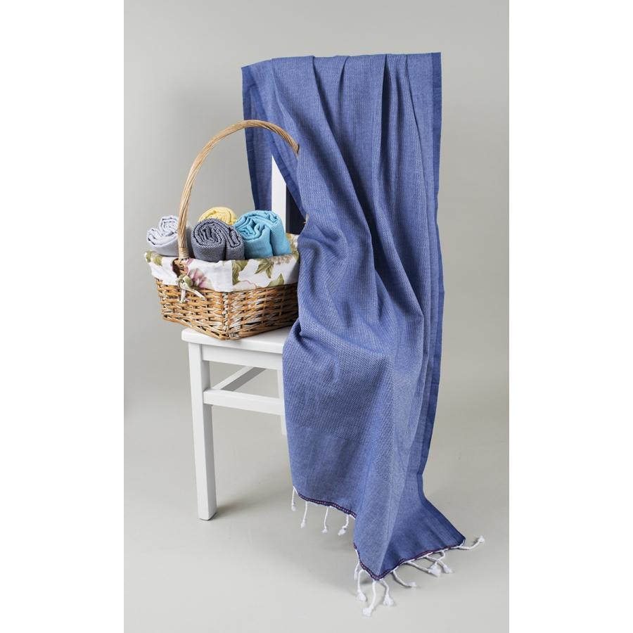 Полотенце Barine Pestemal - Engin 100*180 Denim синее