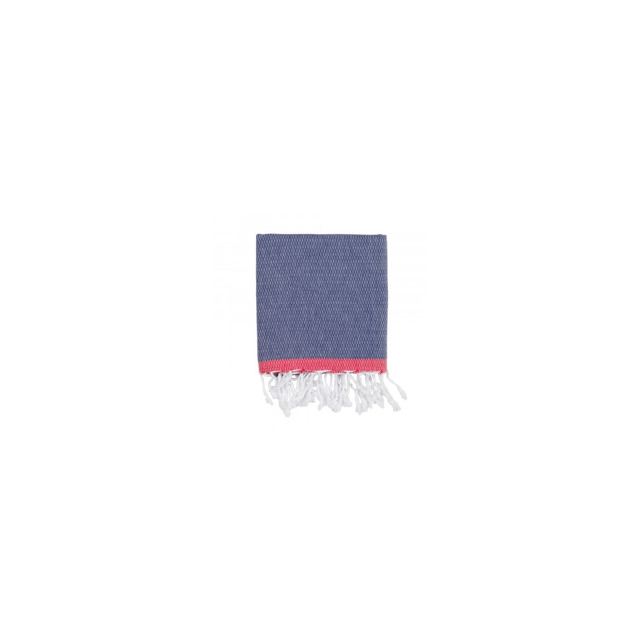 Полотенце Barine Pestemal - Basak 95*165 Navy-Red красно-синий