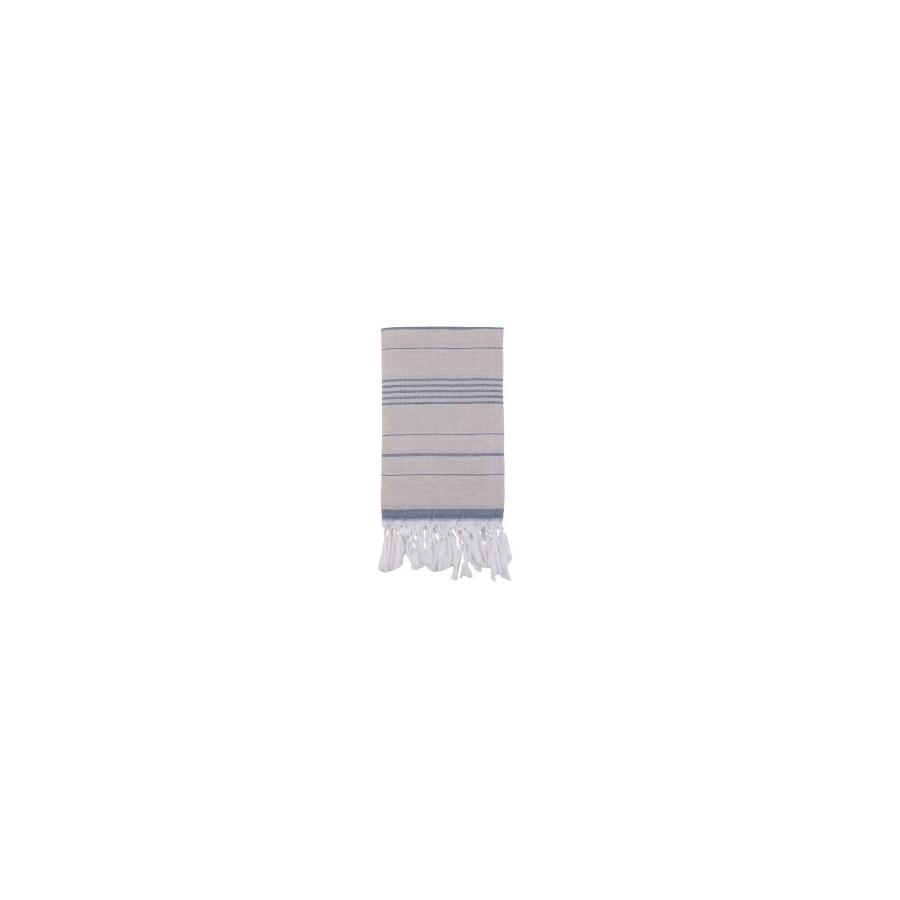 Полотенце Barine Pestemal - Lino 95*160 Indigo синее