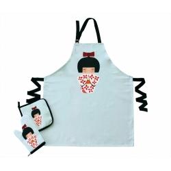 Набор для кухни Barine - Little Wagashi фартук + прихватка + рукавица, , 2