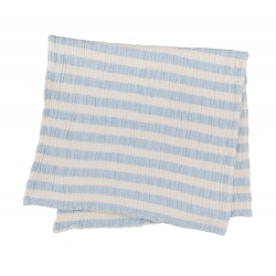 Плед-накидка Barine - Stripe Muslin mavi голубой 77*82, , 2