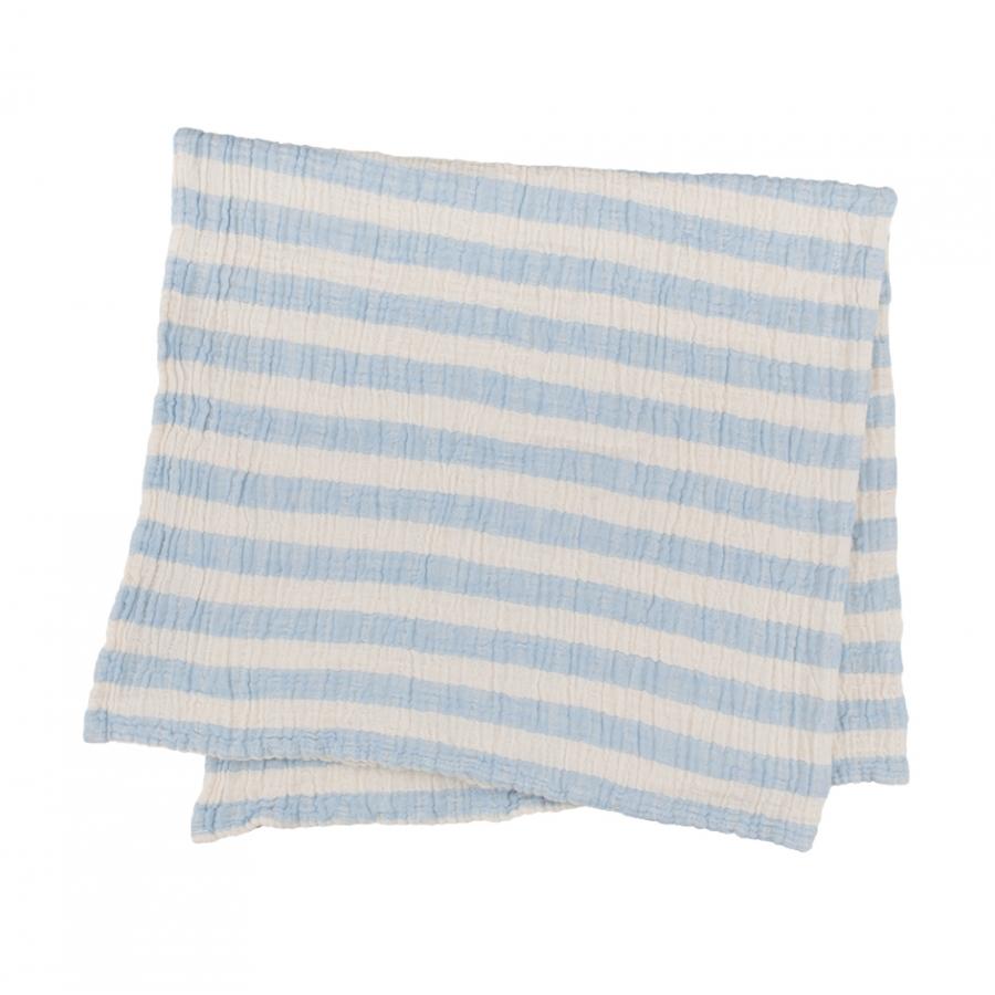 Плед-накидка Barine - Stripe Muslin mavi голубой 77*82