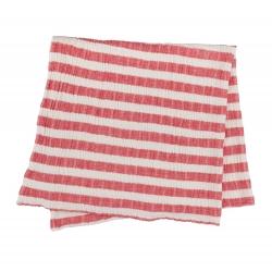 Плед-накидка Barine - Stripe Muslin kirmizi красный 77*82, , 2