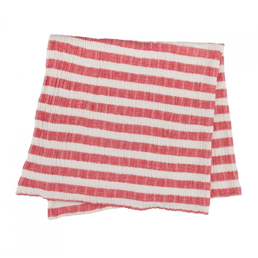 Плед-накидка Barine - Stripe Muslin kirmizi красный 77*82