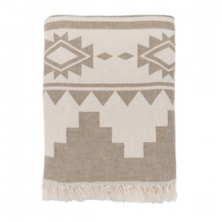 Плед микроплюш Barine - Rug Throw khaki 130*170, , 2