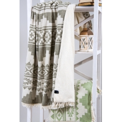 Плед микроплюш Barine - Rug Throw khaki 130*170, , 4