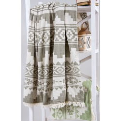 Плед микроплюш Barine - Rug Throw khaki 130*170, , 5