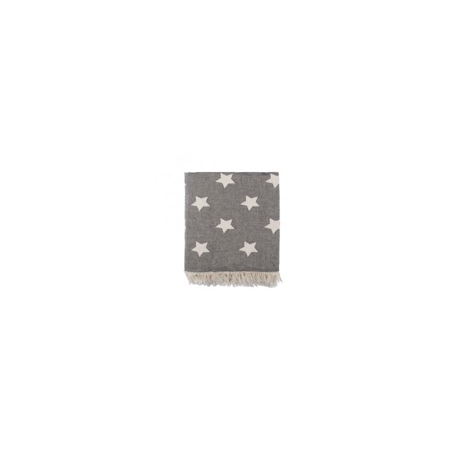 Плед микроплюш Barine - Star Throw black 130*170