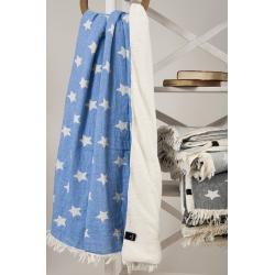 Плед микроплюш Barine - Star Throw blue 130*170, , 4